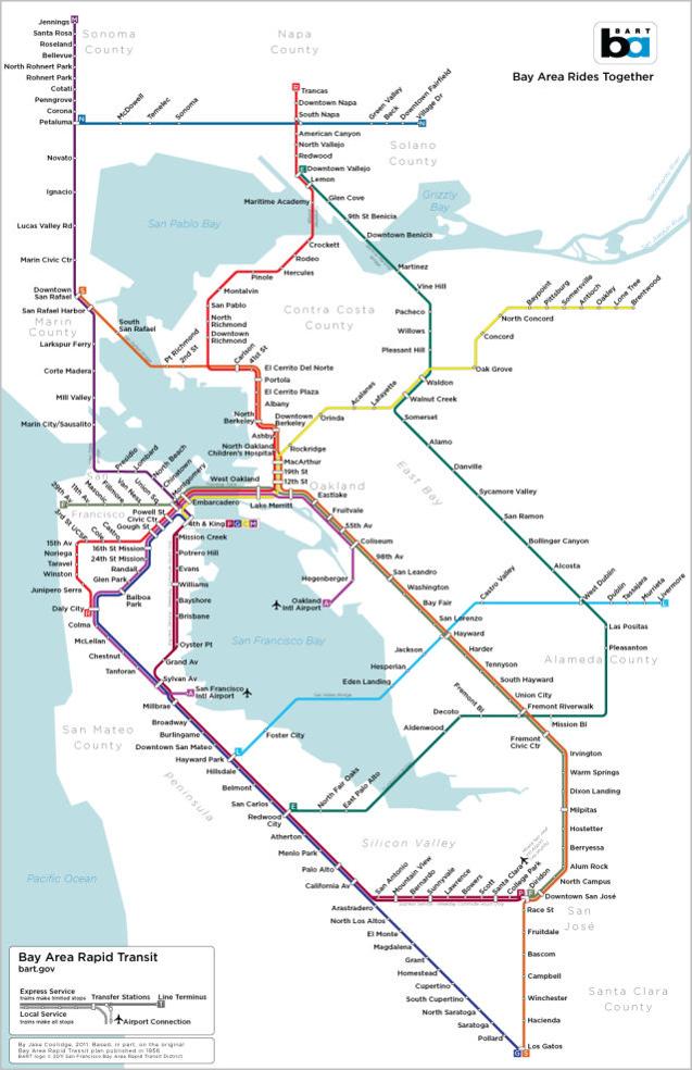Original BART map