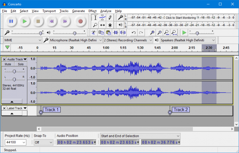 Free podcasting tools! Audacity audio software