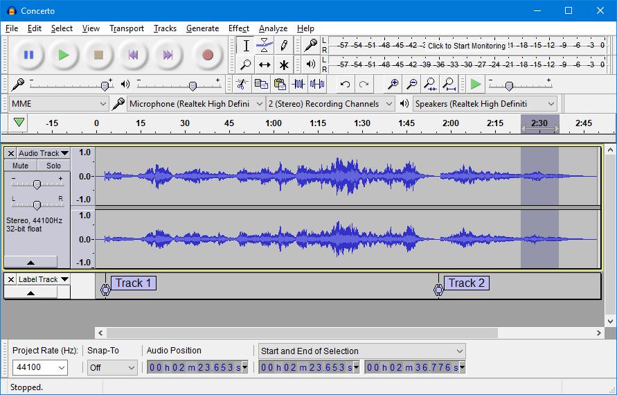 Free podcasting tools! Audacity audio software